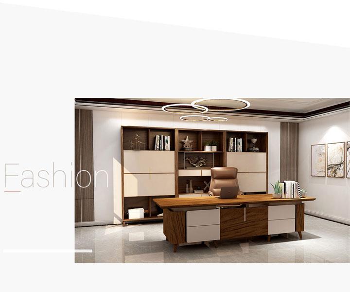 新中式实木办公家具的色彩和文艺特点